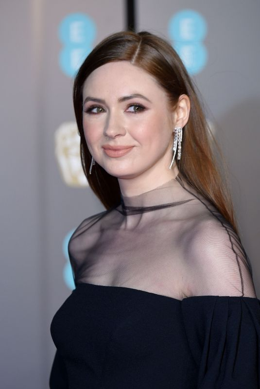 KAREN GILLAN at BAFTA Film Awards 2018 in London 02/18/2018