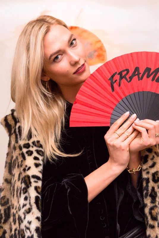 KARLIE KLOSS at Frame Fifth Anniversary Dinner in New York 02/10/2018