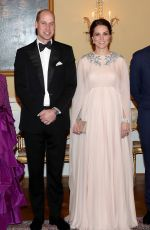 KATE MIDDLETON at a Dinner at Royal Palace in Oslo 02/01/2018