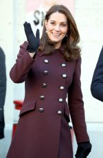 KATE MIDDLETON at Hartvig Nissen School in Oslo 02/02/2018