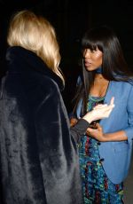 KATE MOSS and NAOMI CAMPBELL at Burberry Show at London Fashion Week 02/17/2018