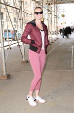 KATE UPTON Arrives at a Gym in New York 01/31/2018