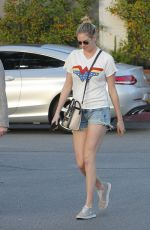 KATE UPTON in Denim Shorts Out in Beverly Hills 02/04/2018