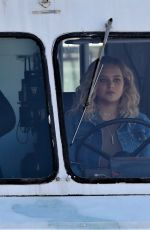 KATHERINE LANGFORD Driving a Ice Cream Truck on the Set of Spontaneous in Vancouver 02/20/2018