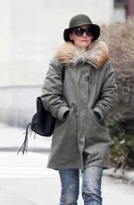 KATIE HOLMES Out and About in New York 02/26/2018
