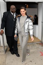 KATIE HOLMES Out at New York Fashion Week 02/12/2018