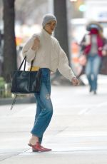 KATIE HOLMES Out in New York 02/25/2018