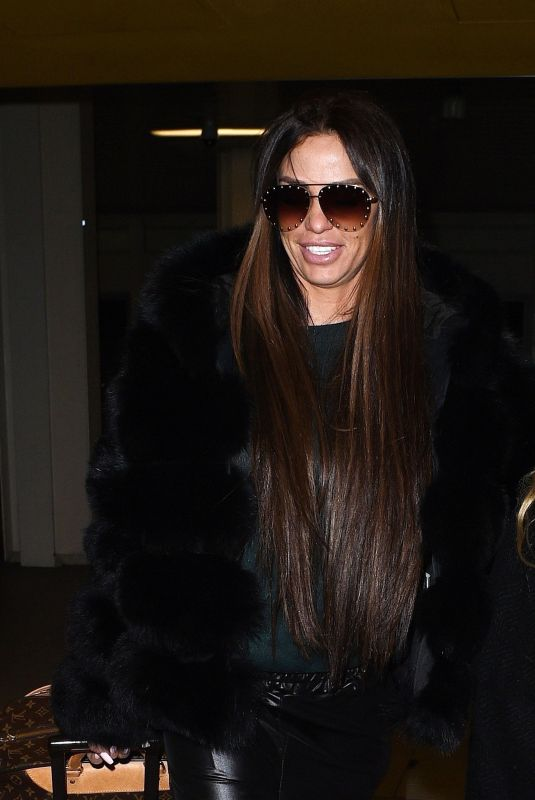 KATIE PRICE at Gatwick Airport in London 02/09/2018
