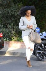 KELLY ROWLAND Out and About in Los Angeles 02/20/2018