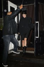 KENDALL JENNER Leaves Alexander Wang Show at New York Fashion Week 02/10/2018
