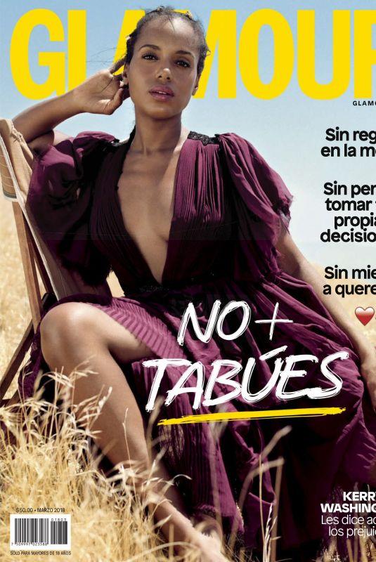 KERRY WASHINGTON in Glamour Magazine, Mexico March 2018