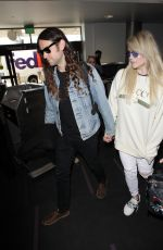 KESHA SEBERT and Brad Ashenfelter at LAX Airport in Los Angeles 02/19/2018
