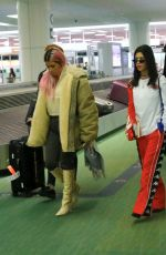 KIM and KOURTNEY KARDASHIAN at Haneda International Airport 02/26/2018