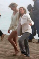 KIM BASINGER and IRELAND BALDWIN on the Set of a Photoshoot in Malibu 02/09/2018