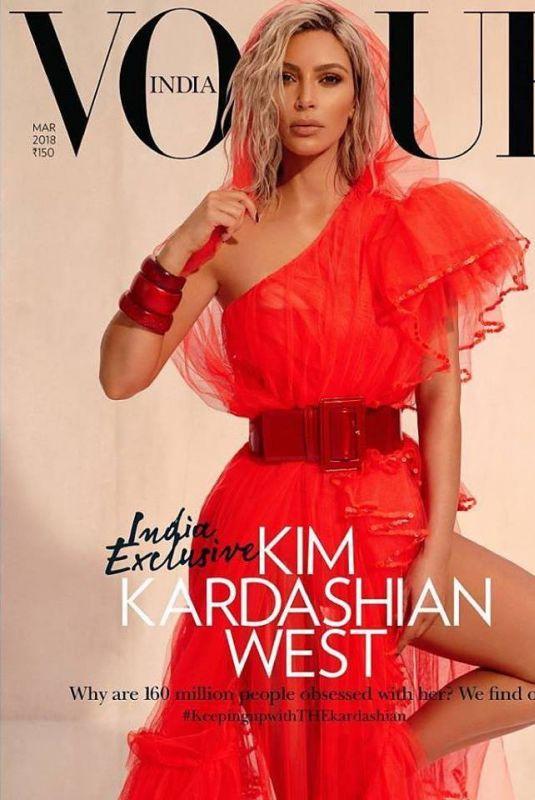 KIM KARDASHIAN in Vogue Magazine, India March 2018