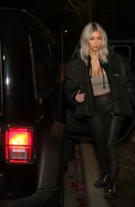KIM KARDASHIAN Night Out in New York 02/12/2018