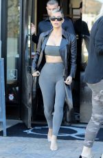 KIM KARDASHIAN Out for a Sushi in Los Angeles 02/08/2018