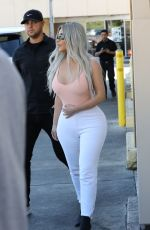 KIM KARDASHIAN Out for Lunch at Carousel Restaurant in Hollywood 02/15/2018
