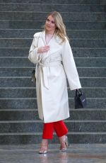 KITTY SPENCER on the Set of a Photoshoot in Milan 02/24/2018