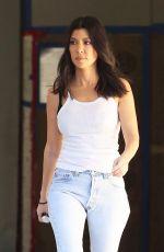 KOURTNEY KARDASHIAN in jeans Out in Los Angeles 02/07/2018