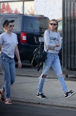 KRISTEN STEWART and STELLA MAXWELL at Shape House Sweat Lodge in Los Angeles 02/06/2018
