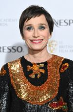 KRISTIN SCOTT THOMAS at Bafta Nominees Party in London 02/17/2018