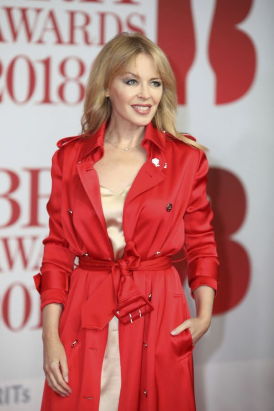 KYLIE MINOGUE at Brit Awards 2018 in London 02/21/2018