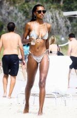 LAIS RIBEIRO and JASMINE TOOKES in Bikinis at a Beach in Miami 02/20/2018