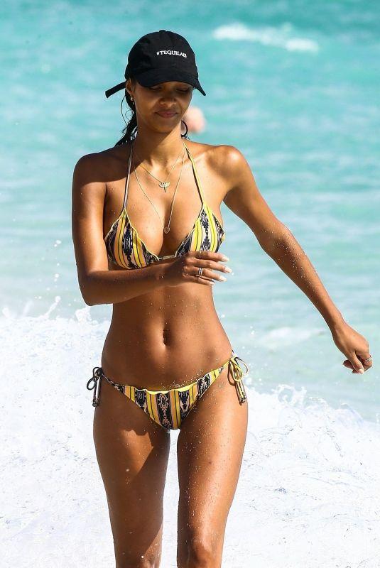 LAIS RIBEIRO in Bikini at a Beach in Miami 02/18/2018