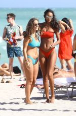 LAIS RIBEIRO in Bikini on the Beach in Miami 02/22/2018