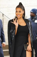 LALA ANTHONY Arrives at Michael Kors Show at New York Fashion Week 02/14/2018