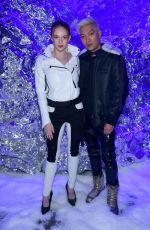 LARSEN THOMPSON at Philipp Plein Fall/Winter 2018 Show at New York Fashion Week 02/10/2018