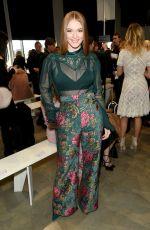 LARSEN THOMPSON at Tadashi Shoji Fashion Show at New York Fashion Week 02/08/2018