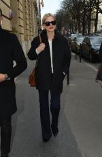 LAURA BAILEY Arrives at Ritz Hotel in Paris 02/26/2018