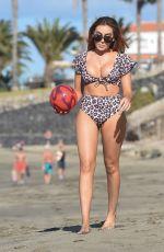 LAURA SIMPSON in Bikini on the Beach in Spain 02/20/2018