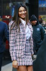 lDANIELLE HERRINGTON Leaves Good Morning America in New York 02/13/2018