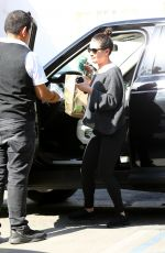 LEA MICHELE Arrives at a Hair Salon in Los Angeles 02/12/2018
