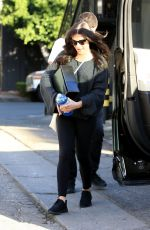 LEA MICHELE Leaves Nine Zero One Salon in West Hollywood 02/12/2018
