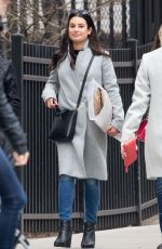 LEA MICHELE Out and About in New York 02/18/2018