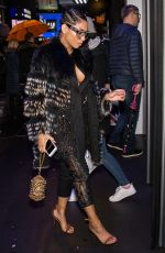 LEANETTA ROBINSON Leaves Carmen Marc Valvo Fashion Show in New York 02/11/2018