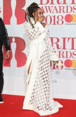 LEIGH-ANNE PINNOCK at Brit Awards 2018 in London 02/21/2018