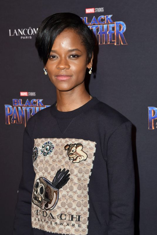 LETITIA WRIGHT at Black Panther Welcome to Wakanda NYFW Showcase in New York 02/12/2018