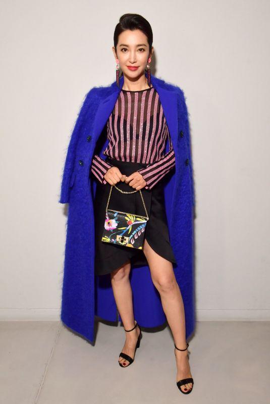 LI BINGBING at Giorgio Armani Show at Milan Fashion Week 02/24/2018
