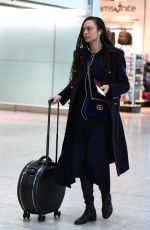 LILLY BECKER at Heathrow Airport in London 02/26/2018