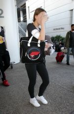 LILY-ROSE DEPP at LAX Airport in Los Angeles 02/03/2018