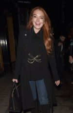 LINDSAY LOHAN at Mnky Hse in London 02/19/2018