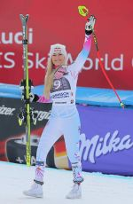 LINDSEY VONN Wins Alpine Skiing FIS World Cup Downhill in Germany 02/03/2018