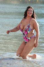 LISA APPLETON in Swimsuit at a Beach in Benidorm 02/03/2018