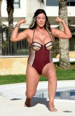 LISA APPLETON in Swmisuit at a Pool in Spain 02/15/2018