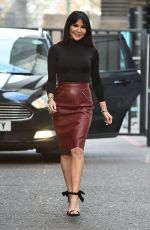 LIZZIE CUNDY Arrives at ITV Studios in London 02/01/2018